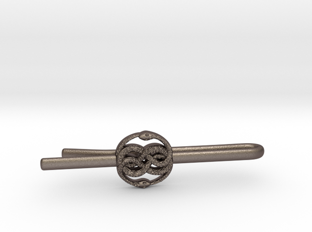 THE NEVERENDING STORY: AURYN TIE-CLIP in Polished Bronzed Silver Steel
