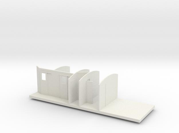 LB B 11-13 - Indretning 1/87 in White Natural Versatile Plastic