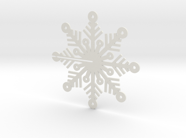 Snow Flake Flat, order two and they become 3D in White Natural Versatile Plastic