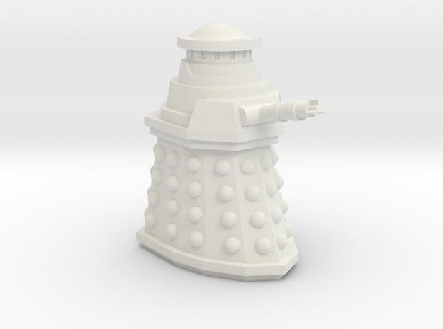 Special Weapons Dalek Mini 30mm  in White Natural Versatile Plastic