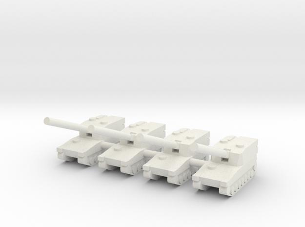1/285 Type 99 SP Artillery (x4) in White Natural Versatile Plastic