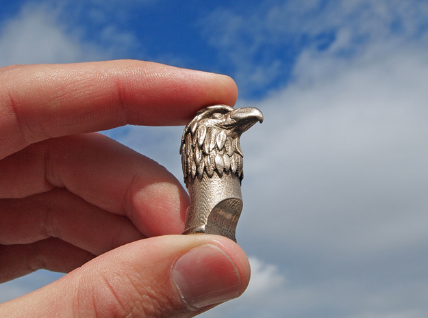 Eagle Whistle 3d printed Stainless Steel