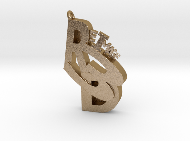 ReImage 3D bling! in Polished Gold Steel