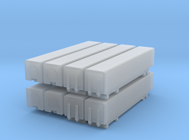 1/96 scale Naval Strike Missile containers -  set  in Smooth Fine Detail Plastic