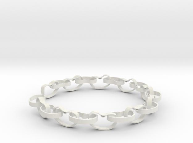 Beans Bracelet in White Strong & Flexible