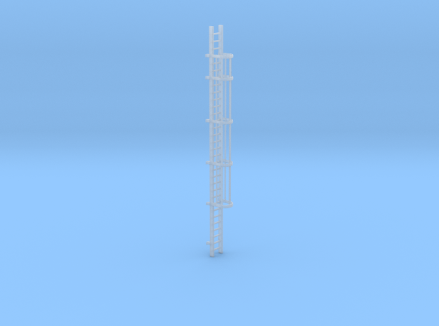 'N-Scale' - 30' Caged Ladder in Smooth Fine Detail Plastic