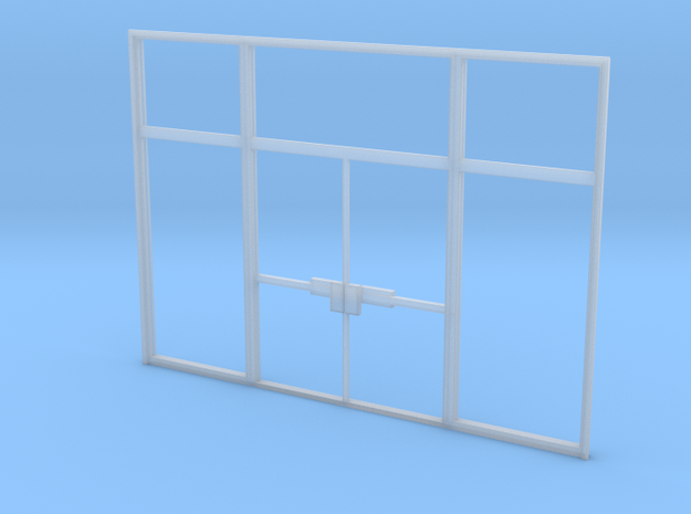 Double Office Door - HO scale in Smooth Fine Detail Plastic
