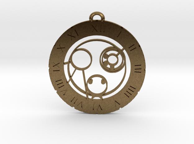 Callum - Pendant in Raw Bronze
