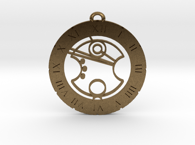 Jasper - Pendant in Raw Bronze