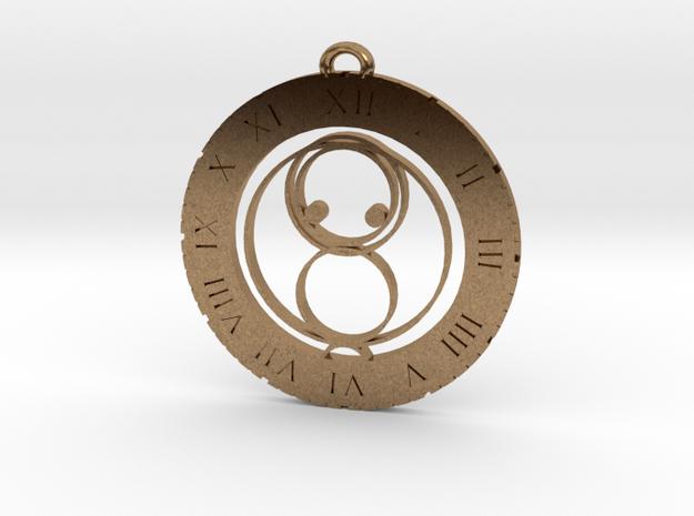 Jack - Pendant in Raw Brass