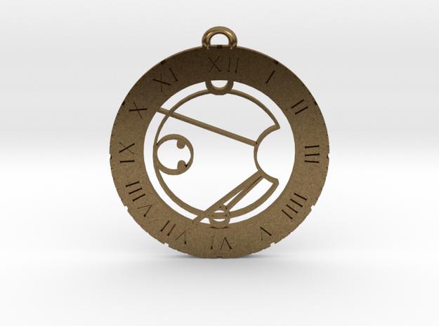 Isaac - Pendant in Natural Bronze