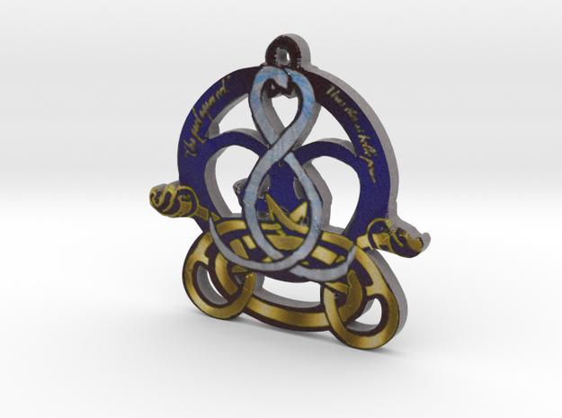 Swans Book of Kells Design V2 in Full Color Sandstone