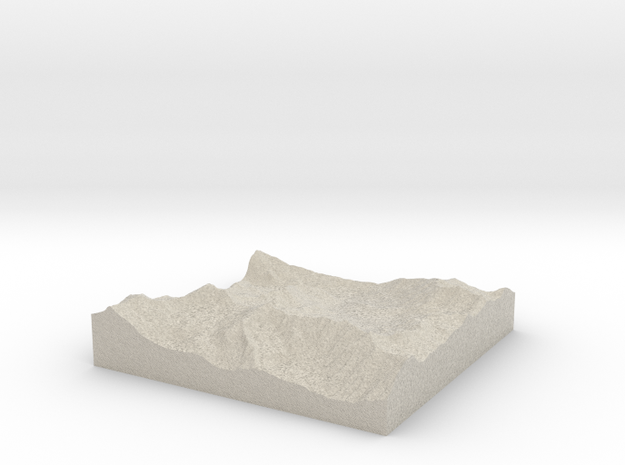 Model of Albion Basin in Natural Sandstone