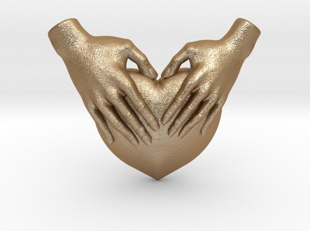 Pendentif - 80% in Matte Gold Steel