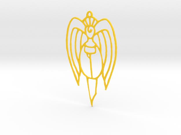 Christmas ornament: Angel in Yellow Processed Versatile Plastic