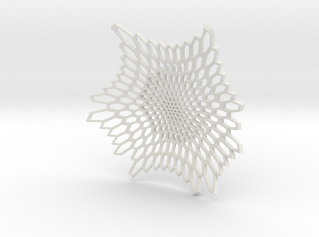 "Radiolarian Bowl - 7""  in White Strong & Flexible"