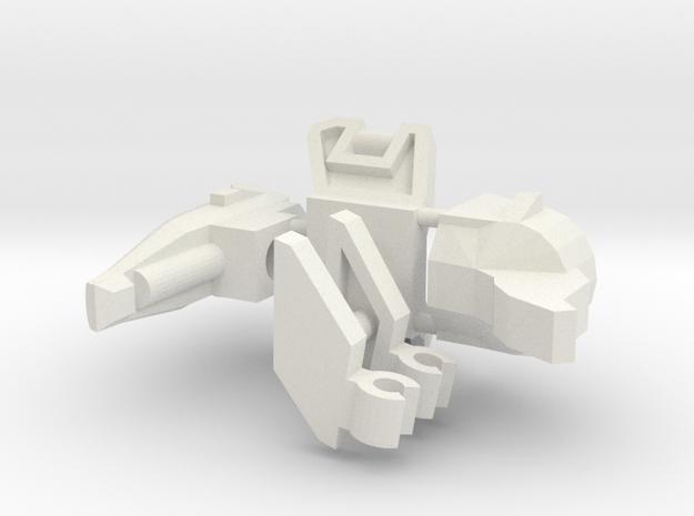 Pterodactybot (no vest) in White Natural Versatile Plastic