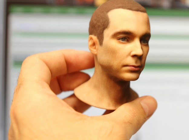 Jim Parsons - Sheldon Cooper from The Big Bang The 3d printed