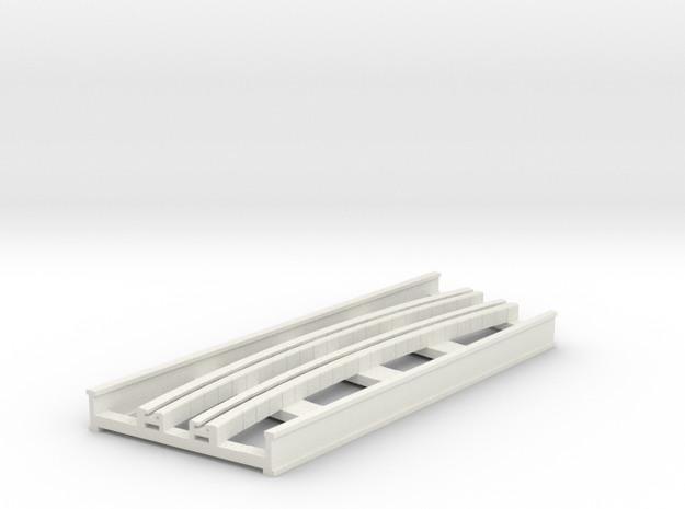 R-9-curve-bridge-track-long-2a in White Natural Versatile Plastic