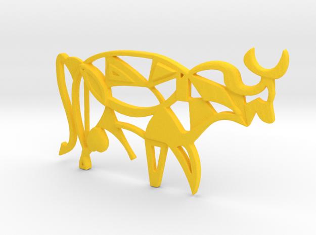The Pablo Bull Pendant in Yellow Processed Versatile Plastic