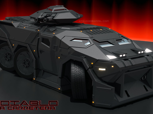 Diablo APC - 6mm scale with aero mods.  in Smooth Fine Detail Plastic
