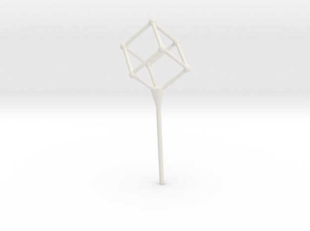 Cube bubble wand in White Natural Versatile Plastic
