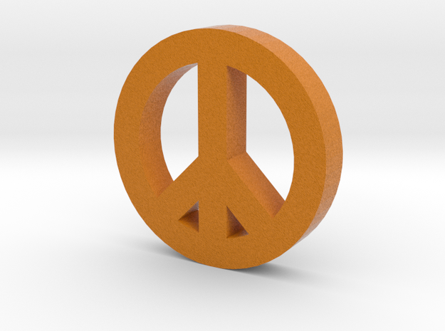 Peace Sign in Full Color Sandstone