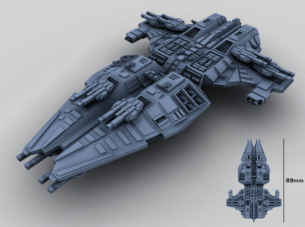 HOMEFLEET Battlecruiser in Smooth Fine Detail Plastic