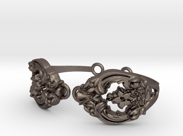 Fleurie Cuff in Polished Bronzed Silver Steel