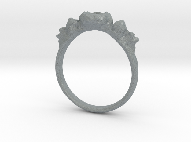 Rocky Ring v1 in Polished Metallic Plastic
