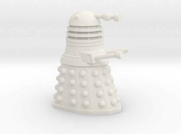 Dalek [1960s Style] 30mm Miniature in White Natural Versatile Plastic