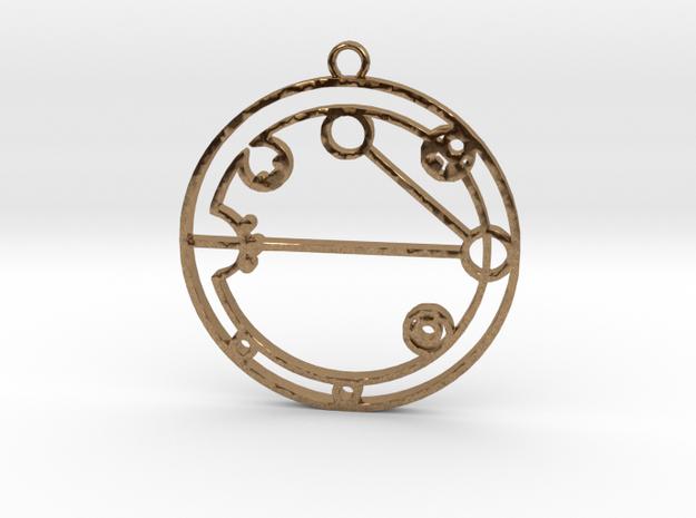 Alexzandra - Necklace in Natural Brass