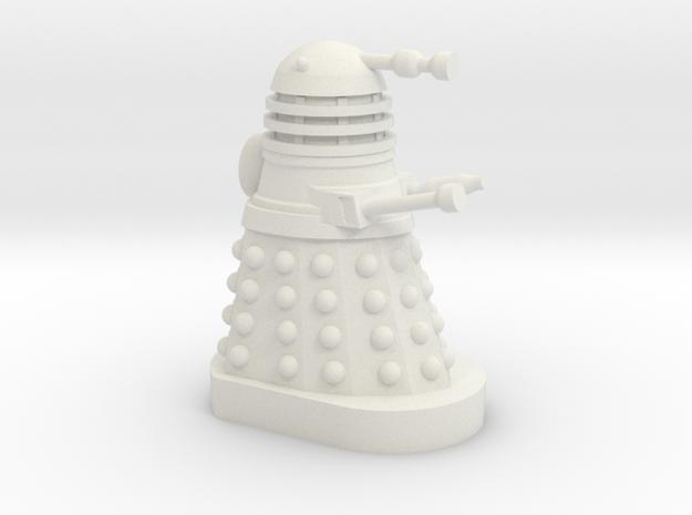 Dalek Mini [Dalek Invasion of Earth] 30mm Miniatur in White Natural Versatile Plastic