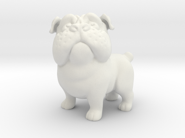 Plucky the Pug in White Natural Versatile Plastic