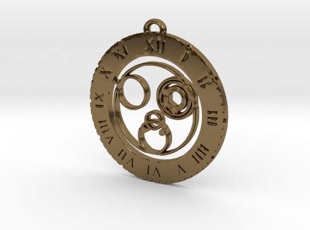 Colleen - Pendant in Polished Bronze