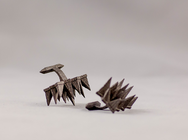 Spikey Cufflings in Matte Black Steel