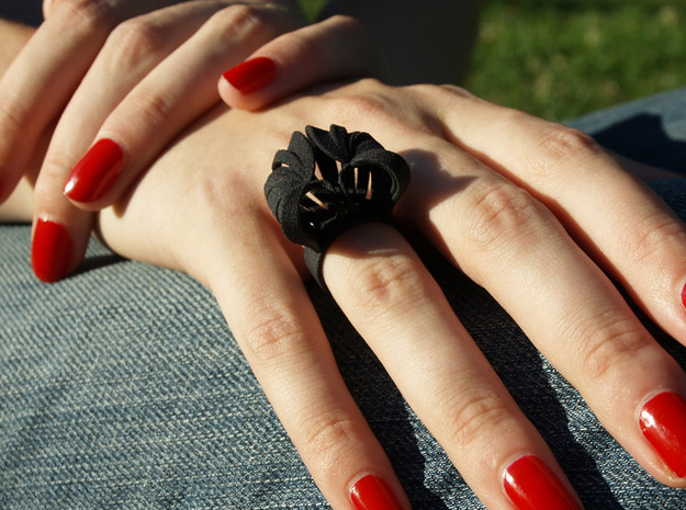 Pumpkin Ring Size 7 3d printed Black