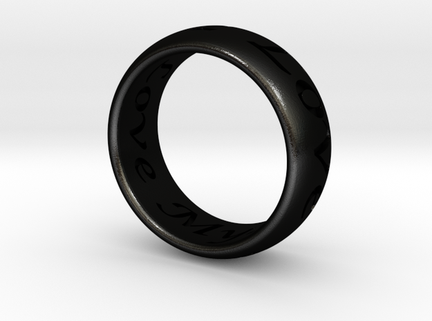 Custom Ring Inscription 3d printed