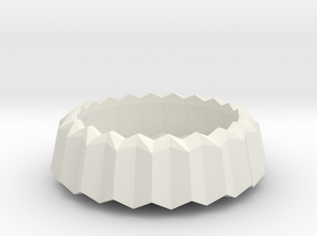 Stylish Faceted Designer Tea Candle Holder - 2,5cm in White Strong & Flexible