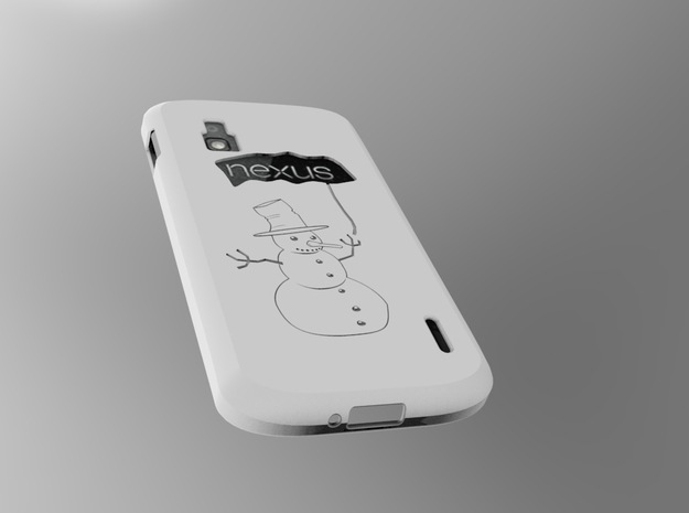 cover Nexus 4 Shell in White Strong & Flexible