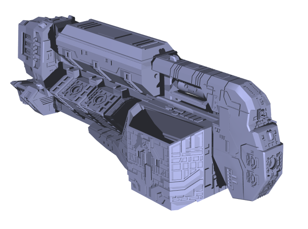 """Somtaaw """"Explorer"""" Command Ship 3d printed The fully assembled Fal-Corum"""