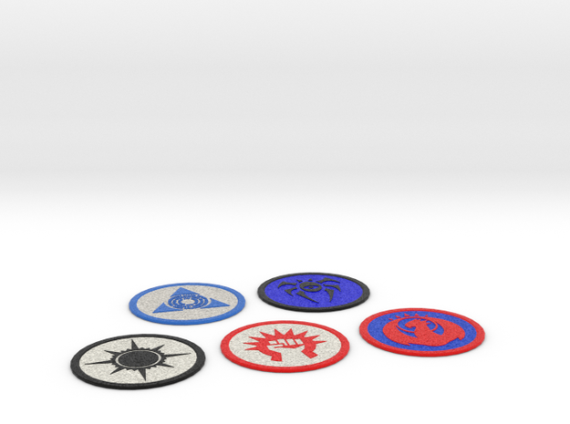 Ravnica Coasters 1 in Full Color Sandstone