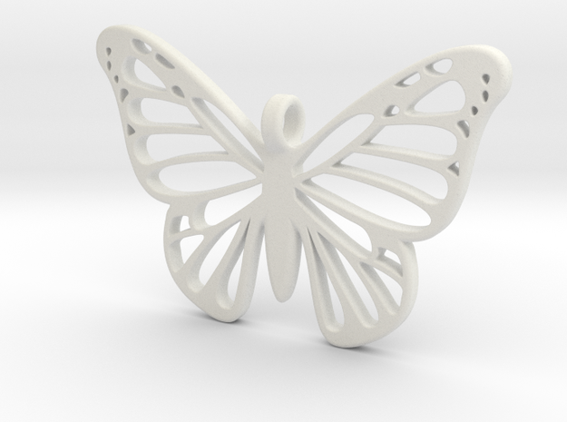 Butterbug 7 in White Natural Versatile Plastic