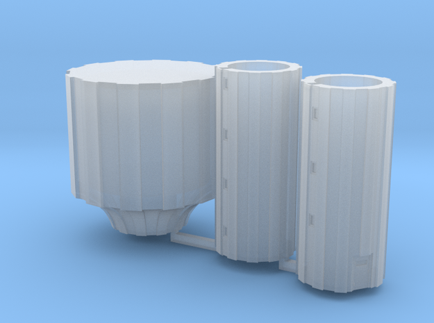 Watertower at scale 1:450 (t-gauge) in Smooth Fine Detail Plastic