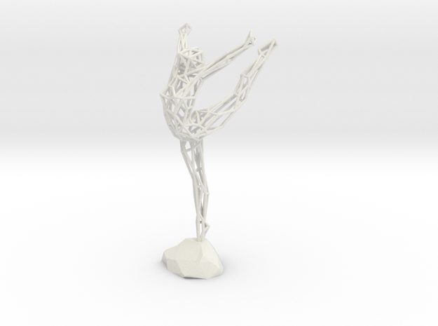 Wireframe Ballerina in White Strong & Flexible