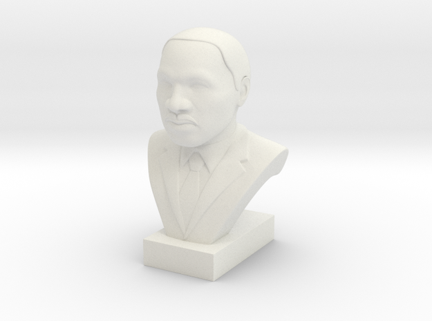 Martin Luther King Jr. in White Natural Versatile Plastic