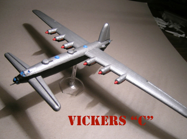 Vickers C (1/285 Scale) - Qty. 1 in White Natural Versatile Plastic