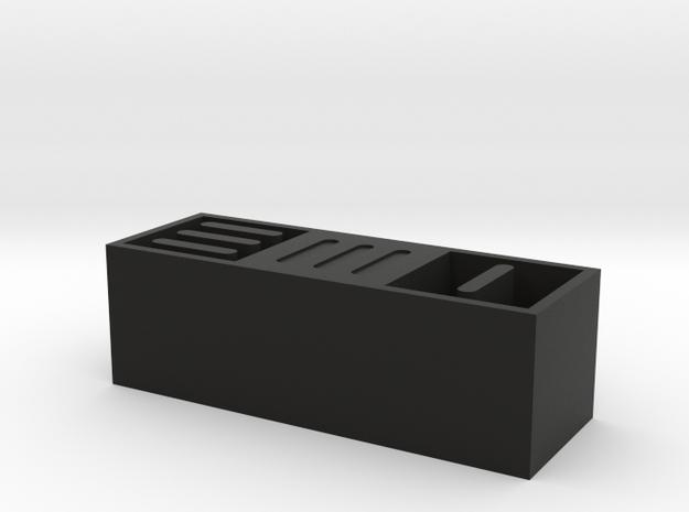 EMI Art Block in Black Natural Versatile Plastic