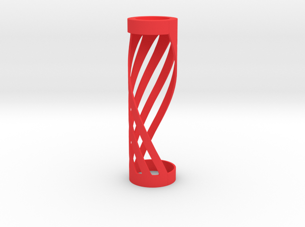 The Twisted Wick in Red Processed Versatile Plastic