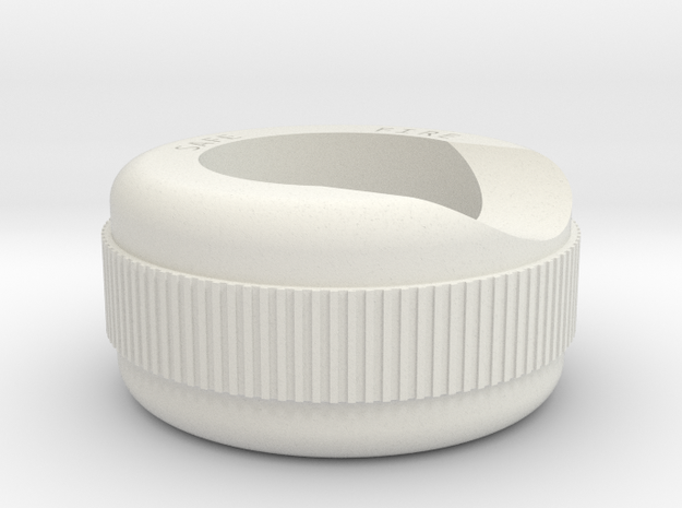 Gun Button Bezel MkI in White Natural Versatile Plastic